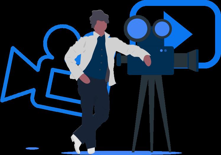 Ilustração de videos